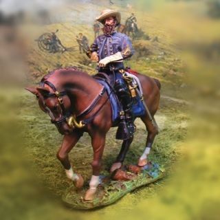 Collectors Showcase CS00530 JEB Stuart American Civil War 54mm Mounted