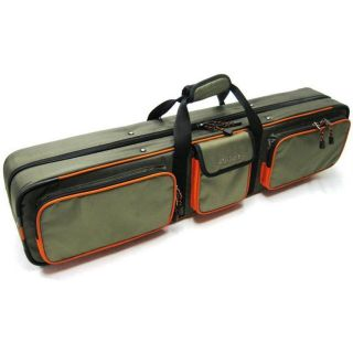New Allen 6383 Hard Sided Ice Rod Case Holds 8 Rods w 3 Pockets