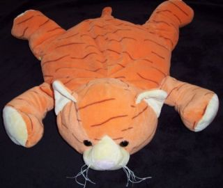 Jay at Play Microbead Orange Tiger Cat Plush Pillow Toy