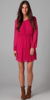 Twelfth St. by Cynthia Vincent Long Sleeve Pleated Dress