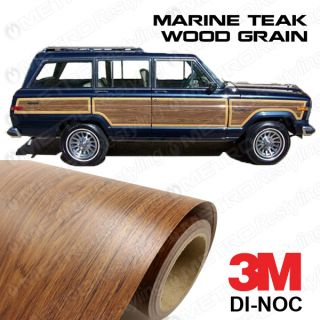 Jeep Grand Wagoneer Wood Grain Vinyl Replacement Sample