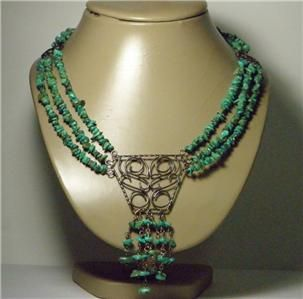 Jay King Mine Finds Turquoise Sterling Silver DTR Jewelry Centerpiece