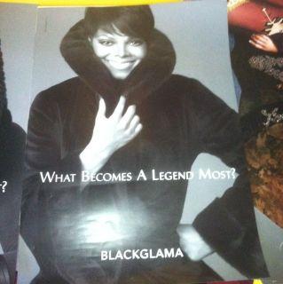 Janet Jackson Blackglama Poster 1