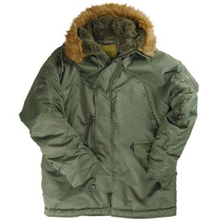 Alpha Industries Knox Armory N 3B Parka Black Metal Sage Green