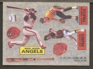 Reggie Jackson 1985 Topps Reggie Jackson Tattoo Sheet Card