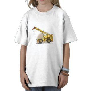 Crane Construction Equipment Kids T Shirt