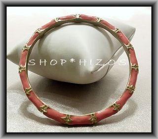 Authentic Kenneth Jay Lane Coral Bamboo Bangle Bracelet