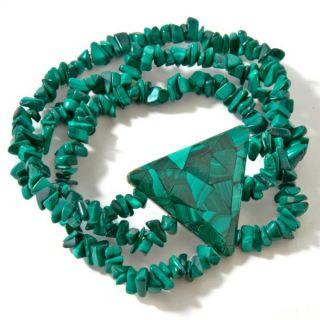 Jay King Mine Finds Malachite Abalone Reversible Stretch Bracelet