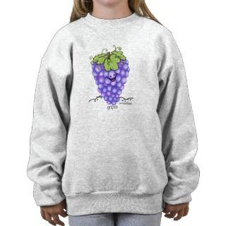 Dibujo animado de la fruta   uvas sudaderas de