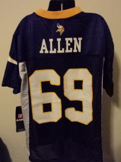 Reebok NFL Minnesota Vikings Jared Allen Youth Football Jersey NWT M