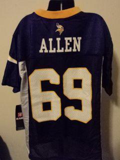 Reebok NFL Minnesota Vikings Jared Allen Youth Football Jersey NWT M