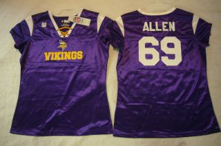 Ladies Women NFL Apparel Vikings Jared Allen Football Jersey 100