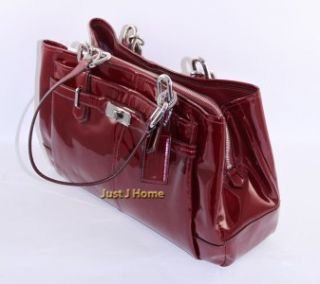 Coach Chelsea Patent Leather Jayden E w Carryall 17855M Wine