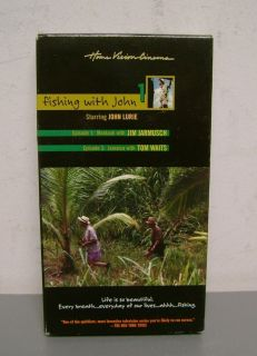 FISHING WITH JOHN LURIE EPI 1 JIM JARMUSCH TOM WAITS VHS VIDEO TAPE