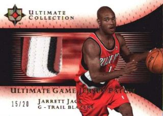 Jarrett Jack 2005 06 05 06 UD Ultimate Gold 3 CLR Rookie Logo Patch 20