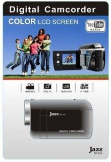 Jazz DV140 HD Digital Video Camera w SD Card Black New