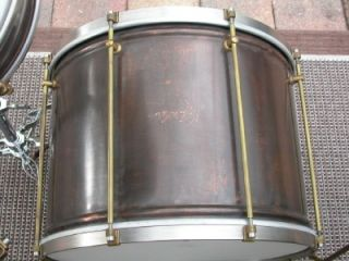 RARE Roberto Spizzichino Copper Jazz Drum Set 18 Bass 12 T 14 ft w