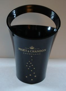 Chandon Champagne Ice Bucket Black Gold Designed Jean Marc Gady