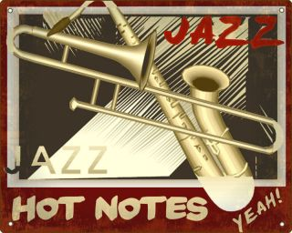 SAXOPHONE JAZZ BLUES SIGN band music bass RETRO plaque STUDIO wall