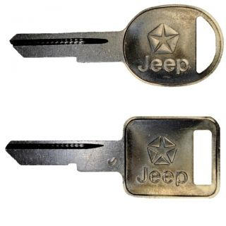 1980s Jeep Grand Wagoneer Blank Set Ignition & Door Lock Key Set OEM