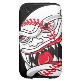 angry mean baseball graphic tough iPhone 3 covers