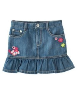 Gymboree Girl Size 6 Smart and Sweet Blue Jean Denim Skirt Skort New