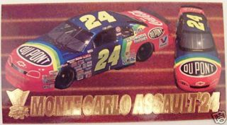 1995 Optima Press Pass Jeff Gordon Racing Card NASCAR