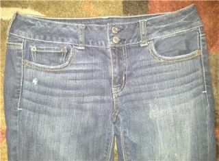 Dont Miss Womens American Eagle Stretch Dark Wash Flare Jeans Sz 8