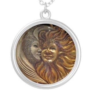 The Moon, The Sun, The Kiss Personalized Necklace