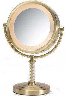 Jerdon 6X 1x Magnification Halo Lighted Vanity Makeup Mirror HL856BC