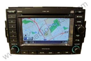 2007 2006 JEEP COMMANDER 6 CD PLAYER RADIO STEREO  GPS REC