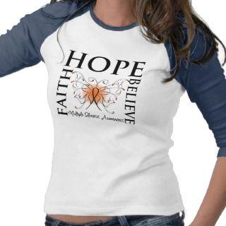 Hope Believe Faith   Multiple Sclerosis Shirt