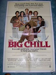 The Big Chill 1983 William Hurt Jeff Goldblum 1sheet