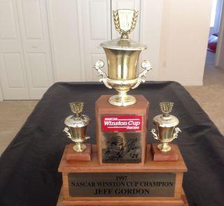 Jeff Gordon #24 1997 Winston Cup Trophy Signed By Jeff Gordon NASCAR