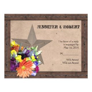 Country Western Barbed Wire Response Card v2 Custom Invitation