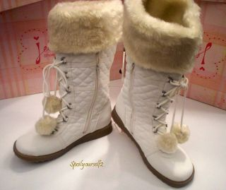 Womens JELLYPOP Ketchup Off White Mid Calf Winter Snow Boot w Faux Fur