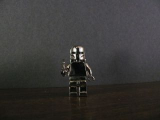 Star Wars Celebration Mifig 14kt Gold Silver Metal Lego Boba Fett