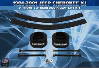 84 01 Jeep Cherokee XJ 2 Front 2 Rear Lift Kit Pro