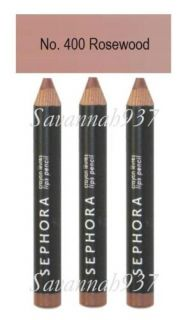 Sephora Lip Liner Lipstick Pencil 400 Rosewood Lot 3