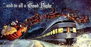 billboard for your American Flyer or Lionel Trains Christmas layout