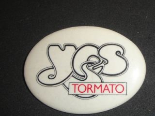 Yes Tormato Tour Hat Pin Pinback Promo Badge Vtg 1978 78 Rock Band