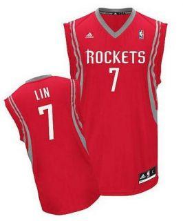 Jeremy Lin No 7 Houston Rockets Swingman Revolution 30 Road Jersey Red