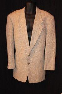 High End Giorgio Armani COLLEZIONI Beige Textured Wool Sport Coat