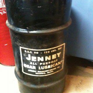 Vintage Jenney Oil Manufacturing SAE 90 120lb Oil/ Lubricant Barrel