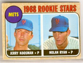 1968 Rookie Stars New York Mets Jerry Koosman Nolan Ryan