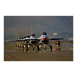 Air Force Thunderbirds F 16 Falcons Poster