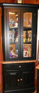 Corner Curio Ethan Allen Black Contemporary