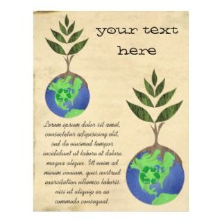 Reuse Reduce Recycle Tree Earth Globe Personalized Flyer