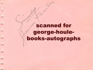 Spencer Charters Autograph 1939 Lincoln Jesse James