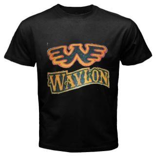 New Wings Waylon Jennings Mens Black T Shirt Size XS 2XL
